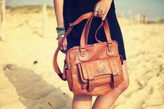 Summer Caramel shaded bag