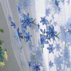 Barato 1 x 2 M doce nova Sheer Top Tap janela cortina sala de estar cortinas…