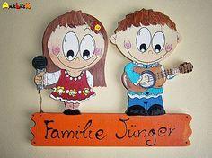 anjelicek / Menovka - dvojica Snoopy, Christmas Ornaments, Holiday Decor, Handmade, Character, Home Decor, Art, Homemade Home Decor, Craft Art