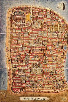 Ottoman polymath Matrakçı Nasuh's legacy to go on display in Belgrade - Daily Sabah Historical Artifacts, Historical Maps, Vintage Maps, Antique Maps, Turkish Art, Old Maps, City Maps, Illuminated Manuscript, Map Art