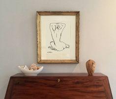 Contour Line Drawing Nude Print Modern Art Matisse Style Contour Line Drawing, Modern Art, Contemporary Art, Color Studies, Figurative Art, Large Prints, Decoration, Line Art, Paint Colors