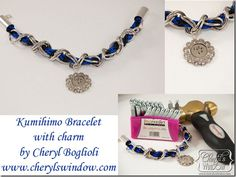 Kumihimo & Chain Bracelet with Charm #jewelry #metalstamping with @Alexandra Prima Bead @ImpressArt Metal Stamps Metal Stamps & @epiphany Crafts