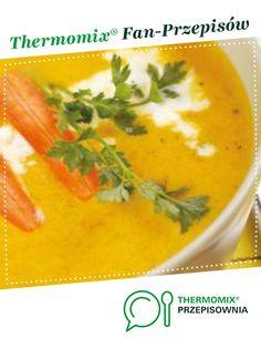 Zupa-krem z marchwi z tymiankiem jest to przepis stworzony przez użytkownika Thermomix. Ten przepis na Thermomix<sup>®</sup> znajdziesz w kategorii Zupy na www.przepisownia.pl, społeczności Thermomix<sup>®</sup>. Cantaloupe, Food And Drink, Fruit, Kitchen, Kitchens, Polish Food Recipes, Cooking, Cuisine, Cucina