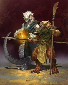 Party of 2 f Half Dragon Silver Wizard m Dragonborn Fighter Bardiche Spear underdark story ArtStation - Tal' Dorei , Svetoslav Petrov Fantasy Character Design, Character Design Inspiration, Character Concept, Character Art, Arte Furry, Furry Art, Fantasy Races, Fantasy Rpg, Dungeons And Dragons Characters