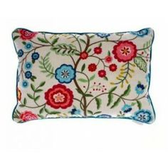 This Voyage Maison blue and red Esmerelda Summer Cushion from Turnbull and Thomas is so fresh and pretty- like a field of flowers on summer's day! Cushions On Sofa, Throw Pillows, Web Design Packages, Crafts Beautiful, Furniture Companies, Soft Furnishings, Fabric Design, Home Accessories, Quilts