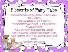 This is an example of a Fairy Tale element poster in the Genre Study unit. The 135 page unit will help your students understand the elements of genre while exploring a variety of texts. Can also be used during writing workshop. Genres studied are: fantasy, mystery, realistic fiction, biography, poetry, historical fiction, fables, fairy tales, informational text