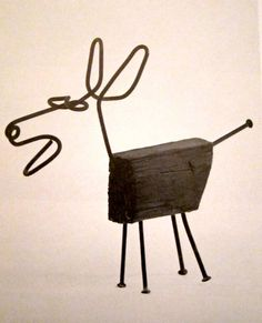 Dog by Alexander Calder. This isn't jewellery but I include it as an example of his wire genius. He drew cartoons with wire in the air. Sculpture Metal, Dog Sculpture, Animal Sculptures, Abstract Sculpture, Alexander Calder, Wire Crafts, Metal Crafts, Found Object Art, Scrap Metal Art