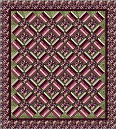 Aspen Twist Quilt Kit: Complete Queen Size: Burgundy