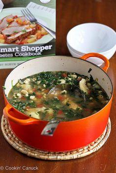 Soups Recipes : Chicken, Artichoke & Spinach Soup Recipe  : Soups Recipes