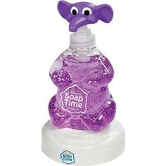 SoapTime STELBB SoapTime Elephant on Base by SoapTime. $9.99. Teaches children to wash their hands for 20 seconds. Teaches child about elephants, zebras, tigers and birds. Specially formulated for kids with no harmful chemicals. Child can sing along to An Elephant Never Forgets. Elephant's soap is purple in color, non-toxic, with a light lavender scent. Think about all the things a child's hands touch over the course of the day. Now think about how often a child rubs their ...