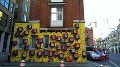 London (i think Shoreditch) Street Art, Street View, Art Uk, Times Square, London, Travel, Voyage, Viajes, Traveling