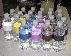 belt color water bottles