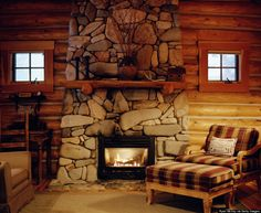 This cozy fireplace is a winter getaway must.