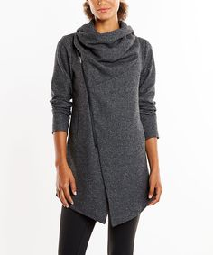 This cozy jacket exudes contemporary-chic style with a chic cowl neck and moto-inspired detailing.Zip closure60% nylon / 40% polyester Machine washImported