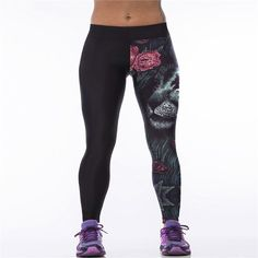 Brand Legins Women Fitness Leggings Winter Leggins 3D Corpse Bride Legging Pants Black Jeggings