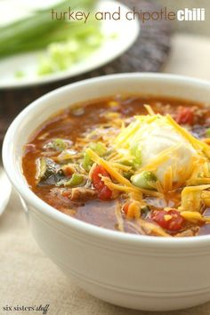 I have never had a chili I didn't like, but this is by far my favorite. It is so easy to just throw everything together in a slow cooker, and a few hours later, dinner is done! We are obsessed with th