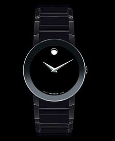 Movado Watch, Men's Swiss Black PVD Bracelet 38mm 0606307 - Men's Watches - Jewelry & Watches - Macy's
