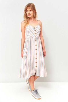 Urban Outfitters Emilia Striped Midi Dress