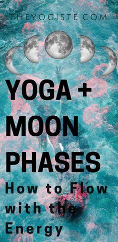 Yoga + Moon Phases How to flow with the energy. Moon phases, moon phase meaning, moon rituals, spiritual yoga, yoga f Yoga Yin, Yoga Meditation, New Moon Rituals, Full Moon Ritual, Yoga Logo, Pranayama, Vinyasa Yoga, Yoga Routine, Tantra