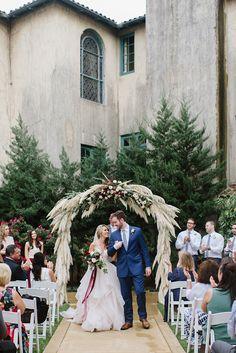 Sunday Brunch Wedding with a pink wedding gown #brunch #weddingideas #brunchwedding photo Blair Schluter See more:  https://ruffledblog.com/sunday-brunch-wedding