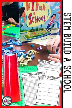 STEM Build a School Activity is a fun and engaging design and engineer challenge for elementary classrooms. STEM Challenges and Literature Connections are connected to the book If I Built a School by Chris Van Dusen. Students will design and construct their perfect school after reading this engaging book. Making learning fun with this project. (third, fourth, fifth graders, Grade 3,4,5) #teacherspayteachers #iteachtoo #stemeducation