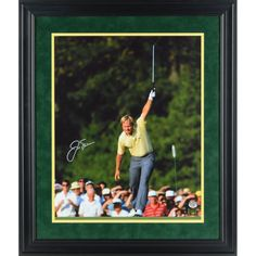 """Jack Nicklaus Fanatics Authentic Framed Autographed 16"""" x 20"""" 1986 Masters Victory Silver Ink Photograph"""