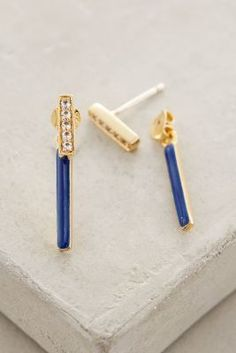 Elizabeth and James Arbus Bar Earrings Blue All Earrings
