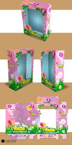 Criação da embalagem para linha de brinquedos Fada dos Dentes da ZAP Brinquedos.