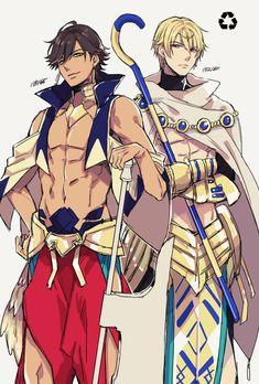 Fate | Ozymandias (Rider) and Gilgamesh (Caster) swap cloths