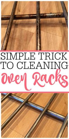 Tired of dirty oven racks? Check out this easy no-scrub trick for cleaning oven racks. You can clean oven racks without a bunch of scrubbing. Deep Cleaning Tips, House Cleaning Tips, Cleaning Solutions, Spring Cleaning, Cleaning Hacks, Cleaning Rust, Borax Cleaning, Bedroom Cleaning, Speed Cleaning