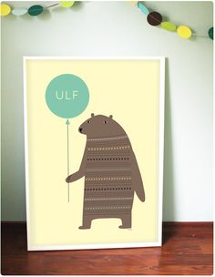 Bear nursery art