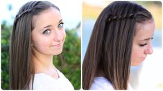 Four-Strand Waterfall Braid | Cute Girls Hairstyles