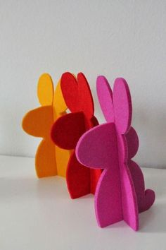 Easter Crafts: 60 creative ideas with step by step - sule Ostern Crafts: 60 kreative Ideen mit Schritt für Schritt Easter Crafts: 60 creative ideas with step by step it Yourself Happy Easter, Easter Bunny, Easter Eggs, Felt Bunny, Diy And Crafts, Crafts For Kids, Creative Crafts, Yarn Crafts, Diy Y Manualidades