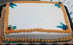 1/4 sheet cake with buttercream icing