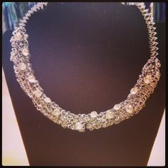 Wire and Crystal Necklace $24