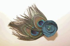 Quick and easy DIY peacock feather hair clip