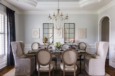 Elegant dining room designed by Burns Interiors Photo by Elegant Dining Room, Dining Room Design, Interior Photo, Photography Portfolio, Interiores Design, Room Decor, Architecture, Burns, House