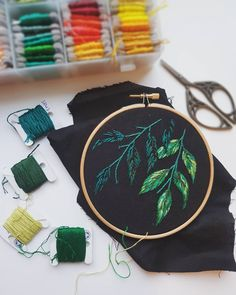 "1,141 Likes, 26 Comments - Georgie Emery (@georgie.k.emery) on Instagram: ""Progress. I have no idea where I'm going with this design . . . #embroidery…"""