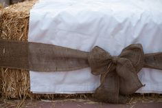 hay bale seating bow tietheknot
