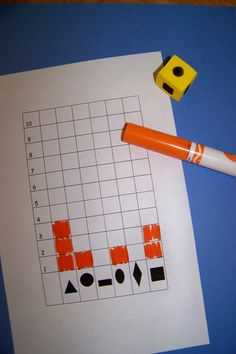 A cute shape game...use a die with the shapes on them and graph how often you roll that particular shape