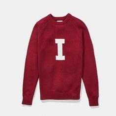 Merino Indiana Vintage Letter Sweater - Hillflint | Luxury Sweaters | Collegiate Apparel