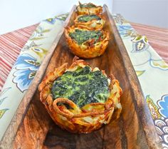 Spinach potato nest bites (wonder if I could sub something for potatoes to Keto this)