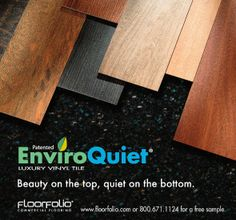 Best EnviroQuiet LVT Images On Pinterest Commercial Luxury - Cost to install luxury vinyl tile