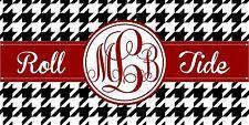 Alabama Crimson Tide PERSONALIZED Roll Tide HOUNDSTOOTH  License Plate