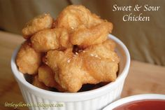 Little Yellow Barn: Mouth Watering Sweet and Sour Chicken - I (yes me, Sara!) Made this recipe and it is exactly like Chinese take-out sweet and sour chicken! Amazingly easy and very yummy!