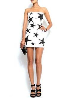 Kup mój przedmiot na #vintedpl http://www.vinted.pl/damska-odziez/krotkie-sukienki/14506561-biala-sukienka-w-gwiazdki