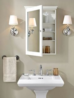 42 Super Creative DIY Bathroom Storage Projects to Organize Your Bathroom on a Budget - The Trending House Bathroom Mirror Cabinet, Mirror Cabinets, Bathroom Storage, Medicine Cabinets, Small Bathroom Cabinets, Bathroom Organization, Glass Bathroom, Bathroom Mirror With Storage, Bathroom Medicine Cabinet Mirror