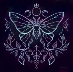 Glyph of the Moth Commission for itsalostgirlthing Moth magic is about transformation, mysteries and the occult, and in many cultures moths have associations with the spirits and world of the dead. They are tied to both darkness and light, and can...