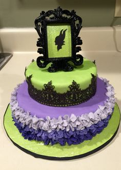 Maleficent Vegan Cake