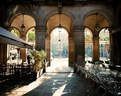 Plaça Reial in Barcelona... steps fro my apartment and one of my favorite places <3